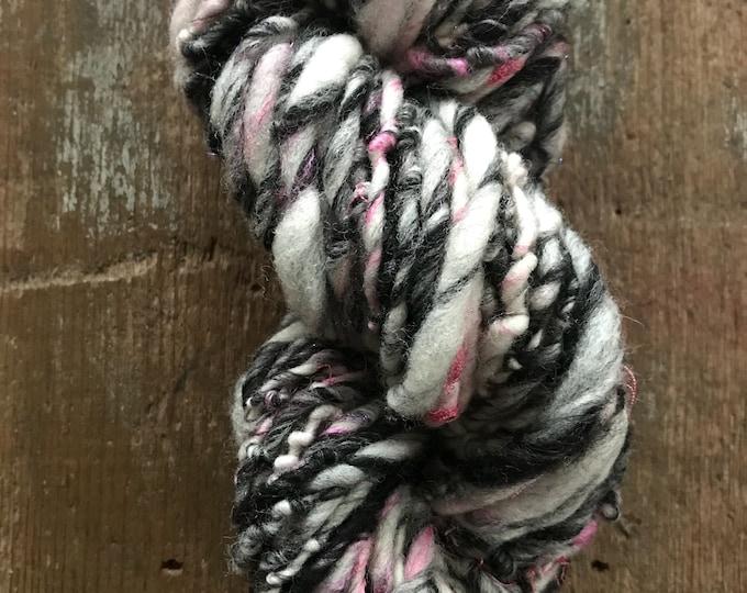 Roller Derby - handspun bulky yarn, 94 yards, bulky yarn, rustic art yarn, chunky yarn, wool handspun yarn