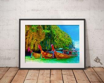 Phi Phi Island Phuket Painting Print