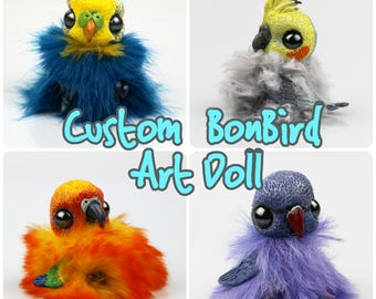 Custom OOAK BonBird Art Doll