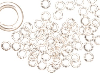 18 gauge Jump Rings Jump Rings Silver plated brass 5mm sold per 200pcs