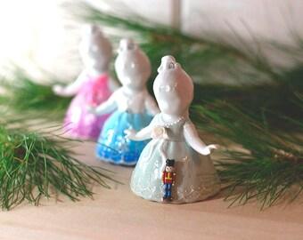 Nutcracker Ballet Ornament set, Ballerina Ornament set, Ballerina gift set, Nutcracker Ornament set, Ballet gift, gift for girls