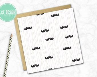 Moustache Mania Mini Card