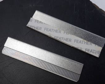 Set of 2 rectangular blades for polymer clay, small cutter tool precision in silver, 58 x 15 mm