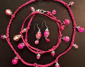 3-PC Hemp and Bead Jewelry Set