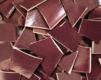 100 Purple Mosaic Tile Pieces, Mosaic Supplies, Thin Ceramic Tiles, Item # ST-5071