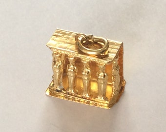 18K  Valley  of the Kings  Tomb yellow gold Egyptian charm# 127