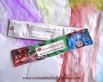 Child ID Bracelet Kids Superhero Safety I.D. Wristband Medical Alert Bracelet - Choose One