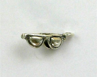 Sterling Silver 3-D Sunglasses Charm