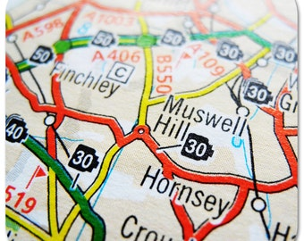 Muswell Hill Map Coasters