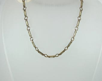 Minimalist Style (1970-Present) Sterling Silver Geometric Chain Necklace
