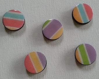 Colorful Stripes Magnet Set