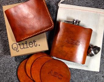 Personalized Groomsmen Gift Set, Groomsman gift, Groomsmen gifts, Groom gift, personalized custom flask, gift for him