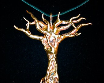 Tree pendant, Tree of life, Copper tree, Tree necklace, Copper pendant, Copper jewelry