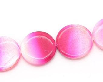 1 puck 30 mm pink ombre Pearl bead