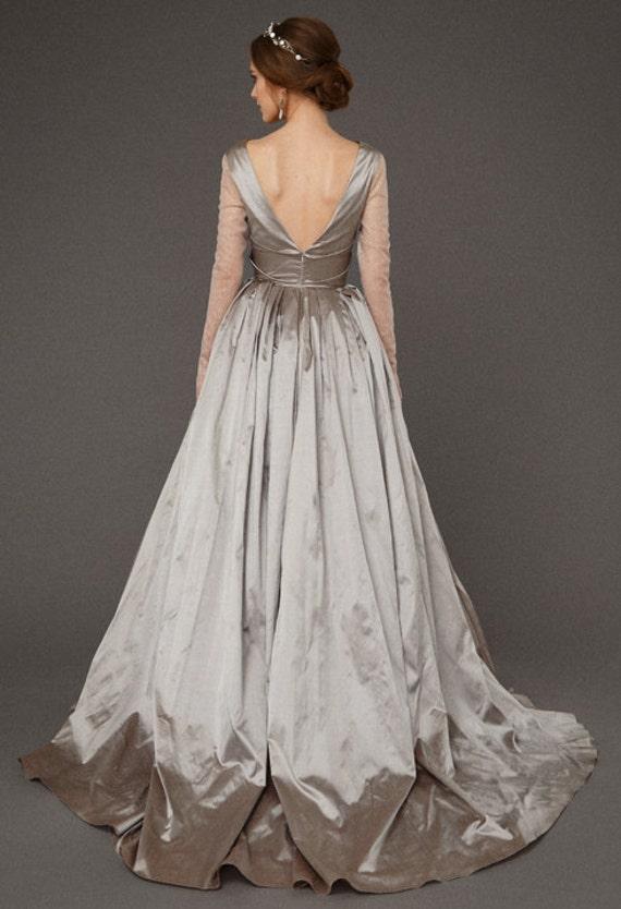 Silver Bride Dress