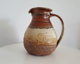 Vintage Gillian Bliss Ceramic Jug - Late 1970s Early 1980s Stoneware - British Ceramics - Signed