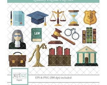 Justice clipart, Court clipart, vector graphics, judge clipart, digital images -  CL 092