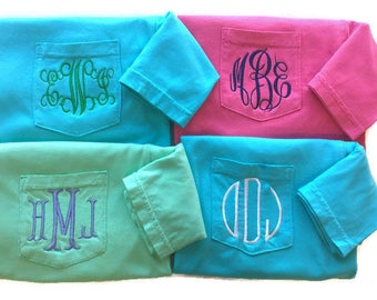 Monogram Shirt, Personalized Gifts For Women, Personalize Birthday Gift, Gift For Her, Monogrammed Shirt, Comfort Colors, Personalized Shirt