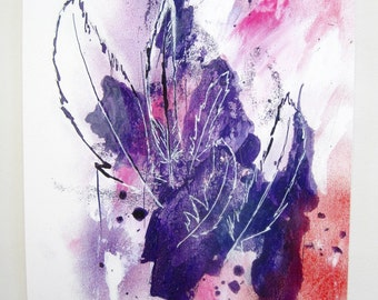 Feathers Mixed Media Art - Feather Giclee Fine Art Print - Archival - Expressionist Art