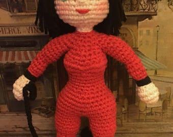 Dahlia the Devil Halloween Doll - Amigurumi Crochet Pattern