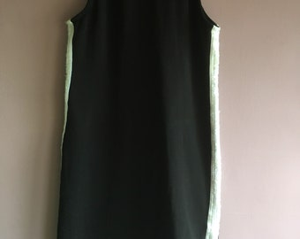 Black bodycon dress with sequin sports stripes