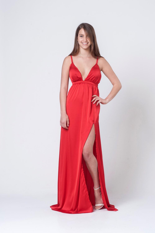 Frauen Kleid rotes Kleid Party-Kleid Kleid Sexy Kleid
