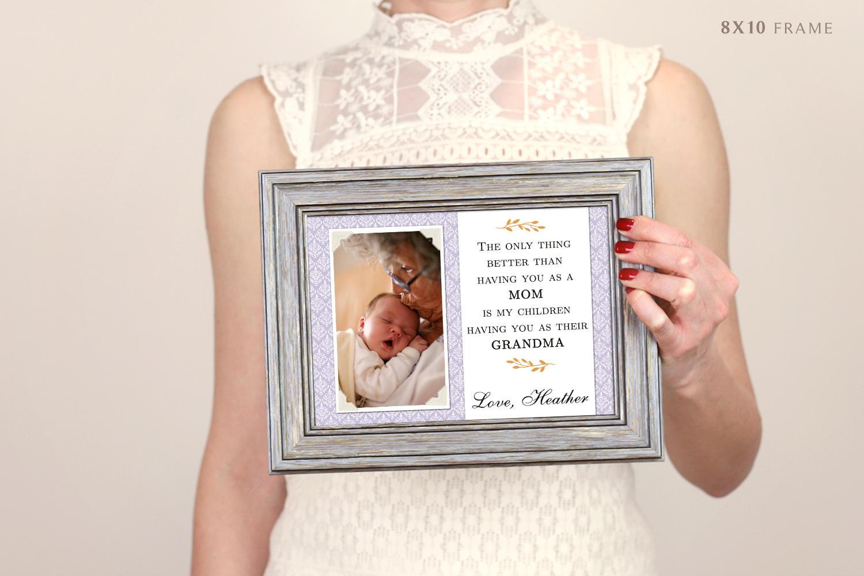 Großeltern Geschenke Muttertag Oma Geschenk Bilderrahmen