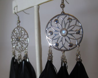 Medium Sized Dream Catcher Earrings