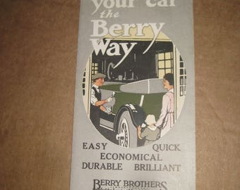 Refinish your car the Berry Way advertising flyer   [c4901o]