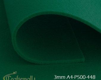 3mm Felt sheet 200x300mm - green - A4-P500-448