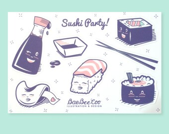 Sushi party Sticker-Pack