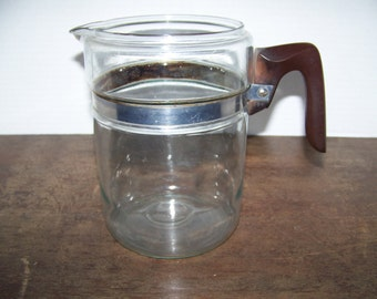 Pyrex 7826-B Percolator Coffee Pot with Bakelite Handle Flameware Coffee Parts, Pot Only
