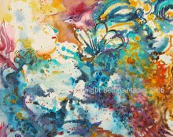 Firefly Magic - original watercolor painting, framed, so inspiring!
