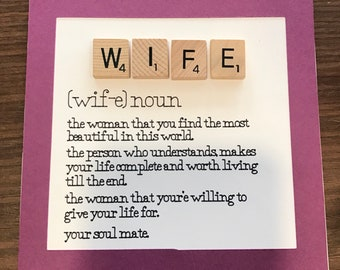 Wife definition card