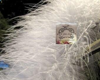 Eggshell White Marabou Boa Feathers