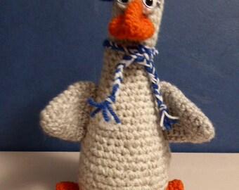 amigurimi crochet goose