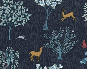 Rustic Deer Fabric, Woodland Nursery Fabric, Modern Farmhouse, Rustic Home Decor, Nordic, Enchanted Forest, Dear Stella Fabric By the Yard