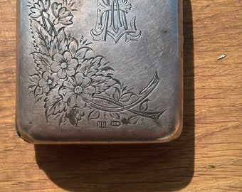 Antique Russian 84 Silver Jewelry Box St.Peterburg