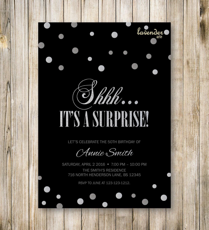 surprise party invite - Roho.4senses.co