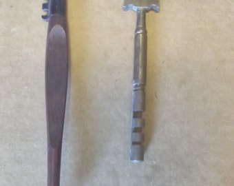 2 Vintage Glass Cutters Millers Falls Brass France