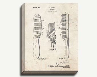 Canvas Patent Art - Hair Brush Gallery Wrapped Canvas Print