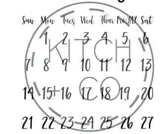 2018 Minimalist Calendar ***Digital Download***