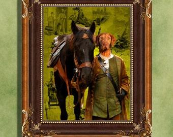 Vizsla Print Art Print 11 x 14 inch original illustration artwork giclee archival premium poster print By Nobility Dogs