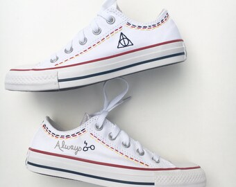 Hand embroidered Harry Potter shoes, shoes included
