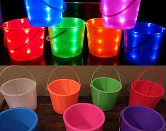 Ready to ship!! Light-up, Flashing, LED, Multi-color Halloween Buckets