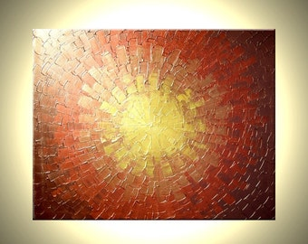 Abstract Gold Art, Copper Original METALLIC, Textured PAINTING by Lafferty - 30X24 Sale , Fathers Day Gift, Fathers Day Sale