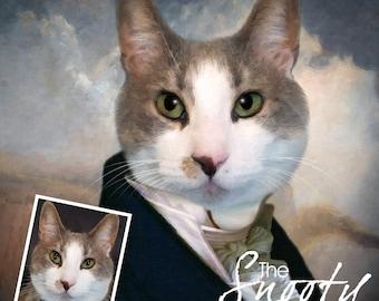 CAT PORTRAIT - Custom Cat Portrait. Cat Portrait Custom. Personalized pet portrait. Cat portrait. Pet portrait. Cat Portrait.