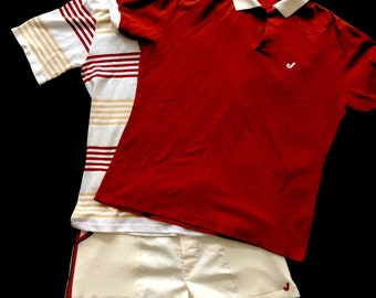 Jantzen Three piece tennis 80's Two Shirts and One Pair of Shorts