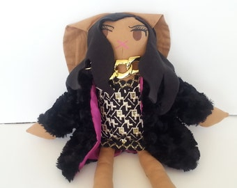 Cookie Lyon Doll- Handmade Bunny Doll, Celebrity Doll from Empire OOAK