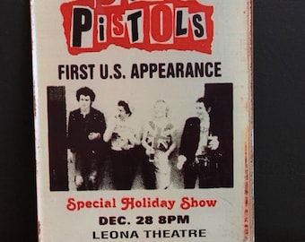 SEX PISTOLS_USA CONCERT_VINTAGE-STYLE TiN_WALL SIGN ( 20x30cm